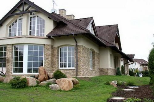 Облицовка фасада камень