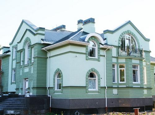 Отделка фасада дома штукатурка 3