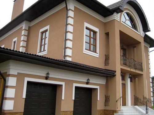 Покраска фасада дома 1