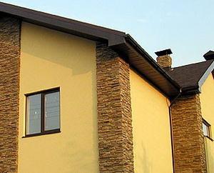 Покраска фасада дома А
