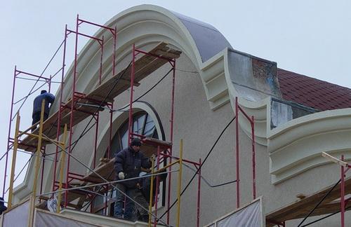 Утепление фасадов пенопластом отделка