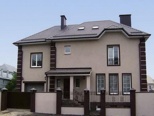 оформление фасада дома штукатурка 1