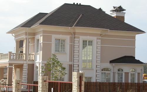 оформление фасада дома штукатурка 3