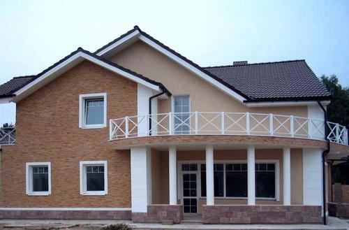 оформление фасада дома штукатурка 4