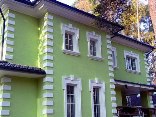 Архитектурные элементы фасадов штукатурка