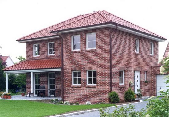 Облицовка фасада дома кирпичом 1