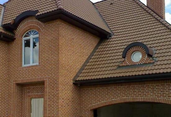 Облицовка фасада дома кирпичом 2