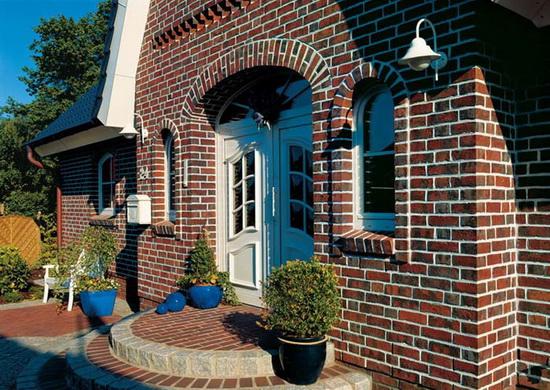 Облицовка фасада дома кирпичом 5