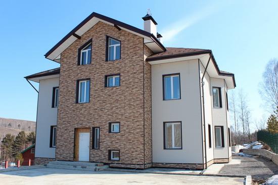 Дизайн фасада частного дома 5