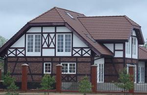 Фасад дома в стиле А