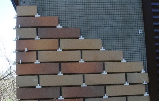 Клинкерный фасад монтаж 1