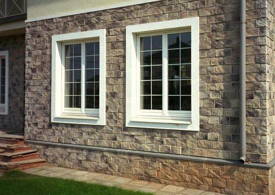 Облицовка фасада дома искусственным камнем 3