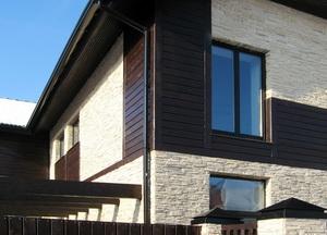 Облицовка фасада дома искусственным камнем А
