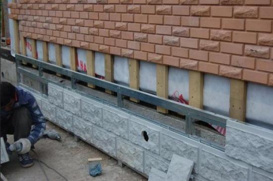Облицовка плиткой фасада монтаж на обрешетку