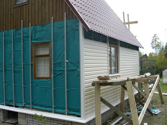 Ремонт фасада частного дома 2