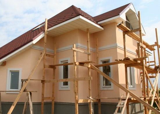 Ремонт фасада частного дома 3