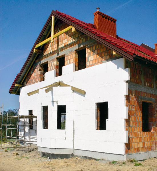 Утепление кирпичного дома снаружи пенопластом 1