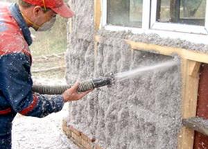 Утепление стен брусового дома снаружи эковатой А