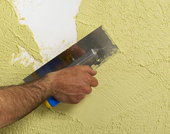 Декор наружных стен с помощью фактурных фасадных красок 3