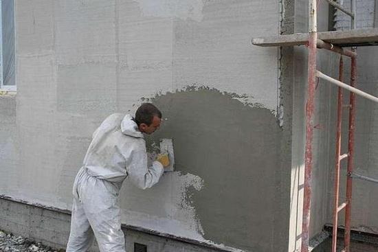 Расход материалов на окраску и штукатурку фасада 3