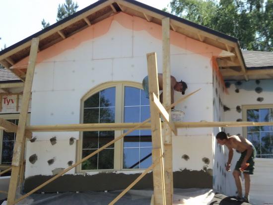 Утепление пенополистиролом стен деревянного дома снаружи 4