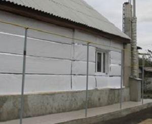 Утепление пенополистиролом стен деревянного дома снаружи 1