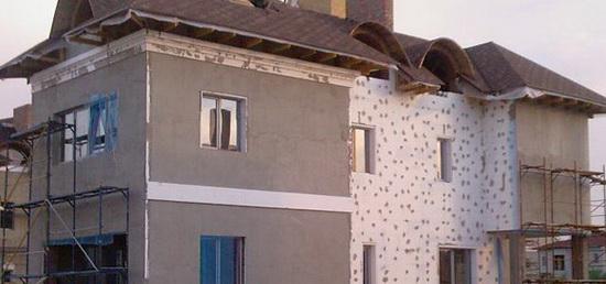 Утепление деревянного дома снаружи пенопластом 3