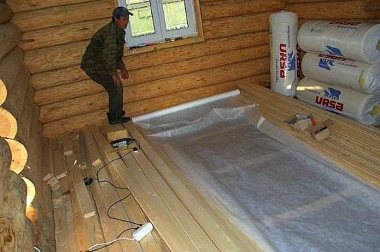 Способы утепления деревянных стен изнутри пенопластом 3