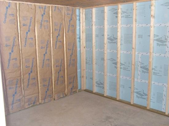 Способы утепления деревянных стен изнутри пенопластом 4