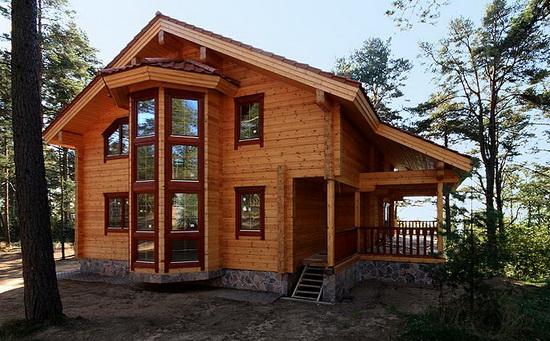 Дома из профилированного бруса - одноэтажные варианты брусовых домов 2