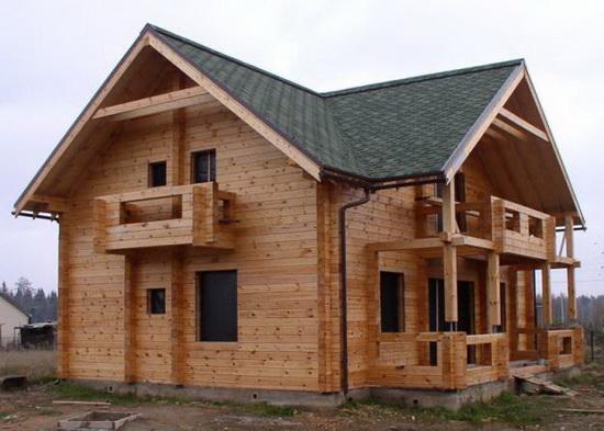 Дома из профилированного бруса - одноэтажные варианты брусовых домов 3