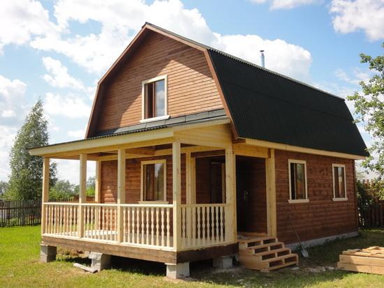 Дома из профилированного бруса - одноэтажные варианты брусовых домов 4