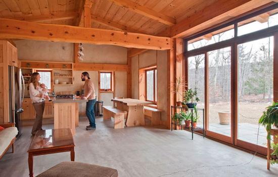 Дома из профилированного бруса - одноэтажные варианты брусовых домов 5