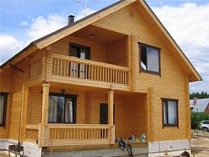 Дома из профилированного бруса - одноэтажные варианты брусовых домов 1