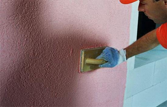 Оштукатуривание стен из газобетона - фасадные отделочные работы 2