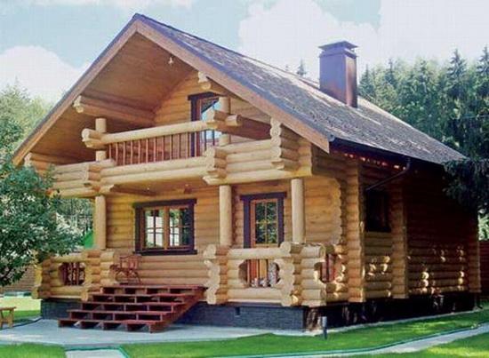 Срубы домов из бруса - недорого строим деревянный загородный дом 5