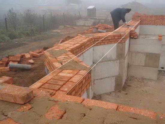 Стоимость кладки кирпича за куб - с материалами и без на строительстве дома 4