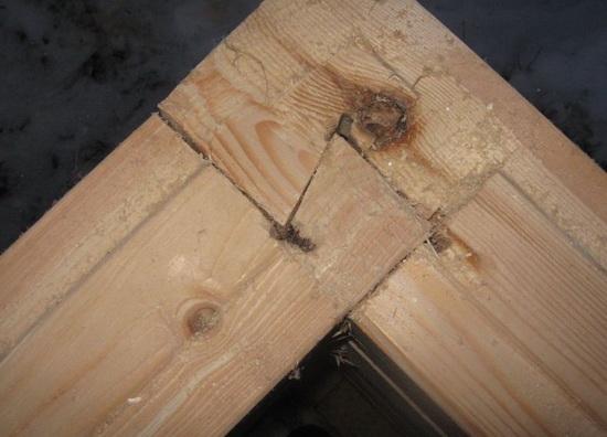 Теплый угол брусового дома - как сделать так, чтобы углы дома не промерзали 5
