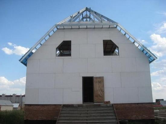 Стекломагниевый лист на фасаде 2