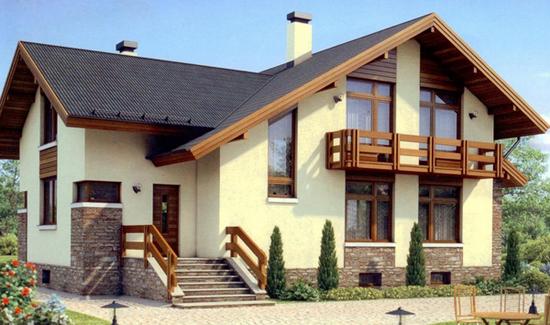Внешняя отделка каркасного дома – фотографии фасадов 3