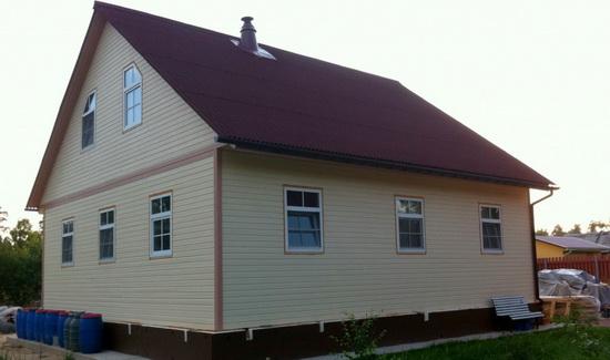 Внешняя отделка каркасного дома – фотографии фасадов 6