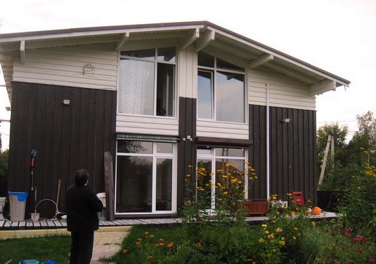 Внешняя отделка каркасного дома – фотографии фасадов 9