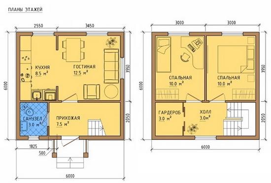 Одноэтажный каркасный дом бесплатные проекты и чертежи 3