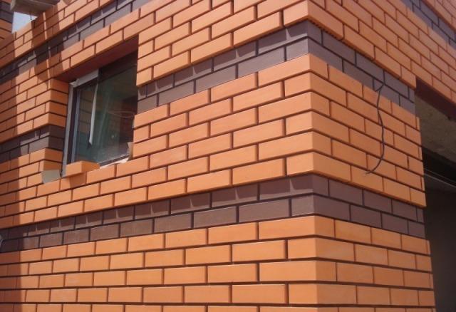 Облицовочный кирпич для фасада - показать варианты отделки 12