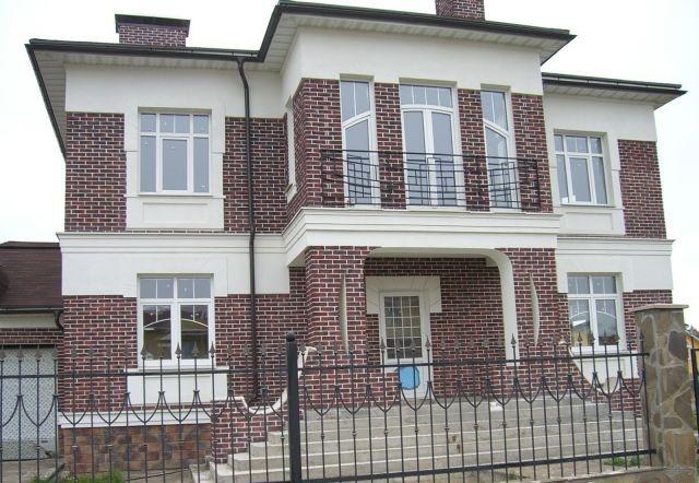фасад дома фото частных домов из кирпича 6