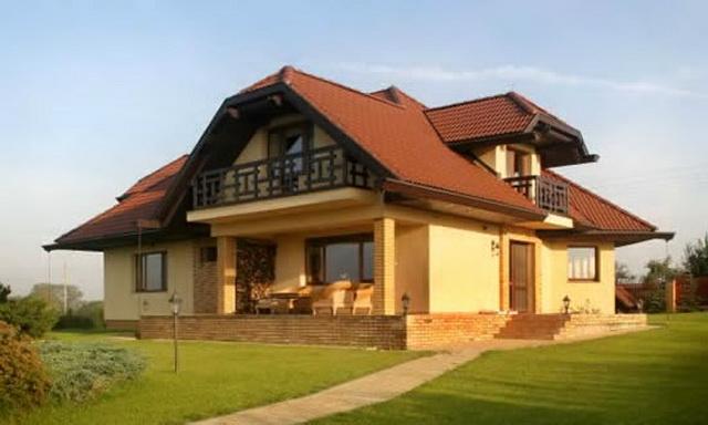 Сочетание цвета крыши и фасада дома на фото 3
