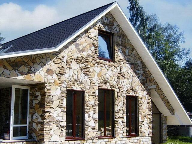 Сочетание цвета крыши и фасада дома на фото 4