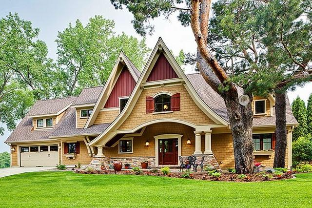 Сочетание цвета крыши и фасада дома на фото 10