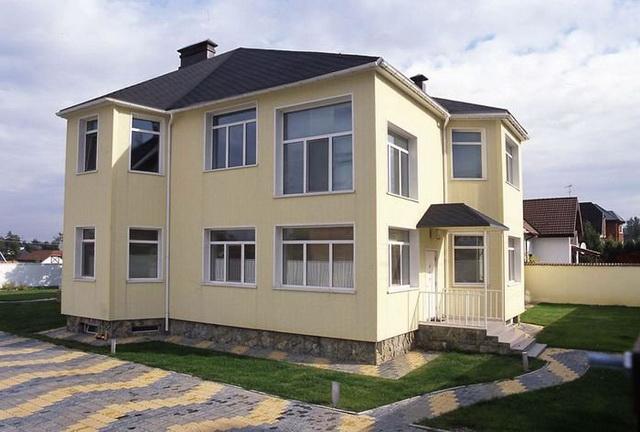 Сочетание цвета крыши и фасада дома на фото 11