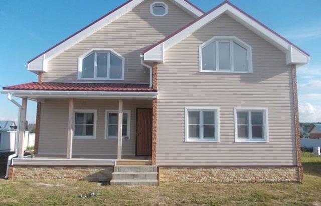 Цветовая гамма сайдинга - образцы обшитых домов в разных цветах 1